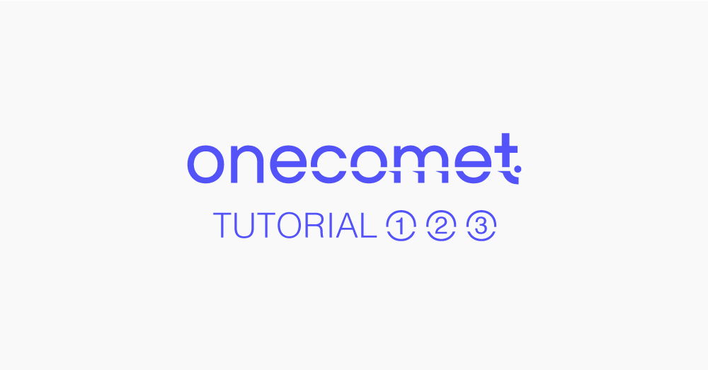 Onecomet tutorial